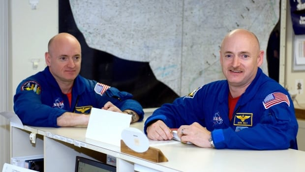 At the end of the upcoming mission, retired astronaut Mark Kelly, right, will have spent 54 days in space and Scott Kelly will have spent 540 - 10 times as much time.