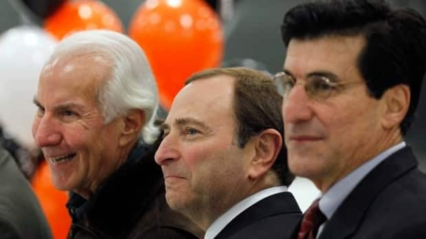 Philadelphia Flyers chairman Ed Snider, shown at left in this file photo, recently completed treatment for a non-life-threatening form of cancer.