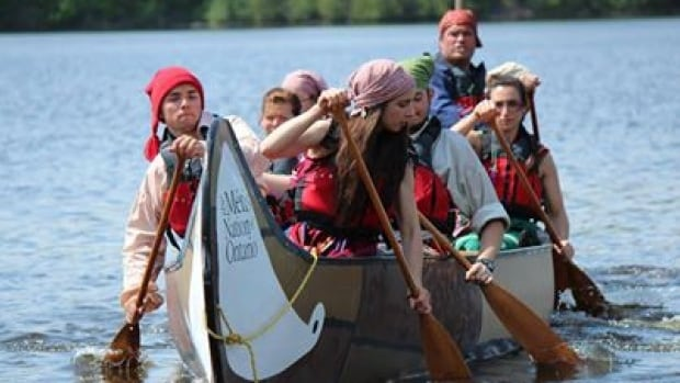 Young Métis people from across the province canoeing from Ottawa to Thunder Bay