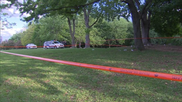 Police are looking for three suspects after a man was attacked in Mount Royal Park Friday evening.