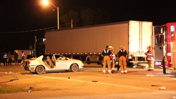 Firefighters had to use the jaws of life to extricate two of the victims in a late-night crash in Brampton.