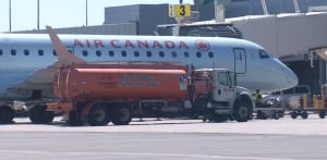 Air Canada plane at St. John's airport