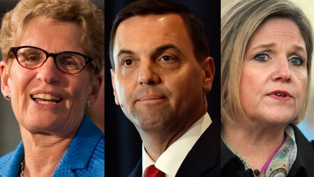 The three main Ontario party leaders focused on battleground ridings in the final days of the campaign. Results in a few key ridings on election night will give an early indication of how their campaign pushes paid off.