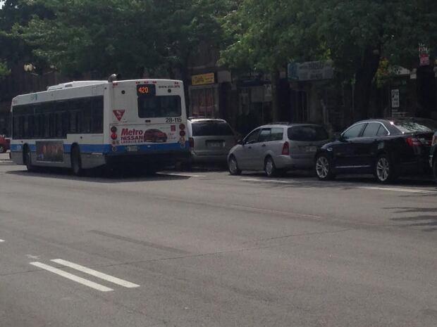 sherbrooke bus lane
