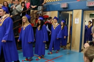 Rainbow socks at Vanier school graduation