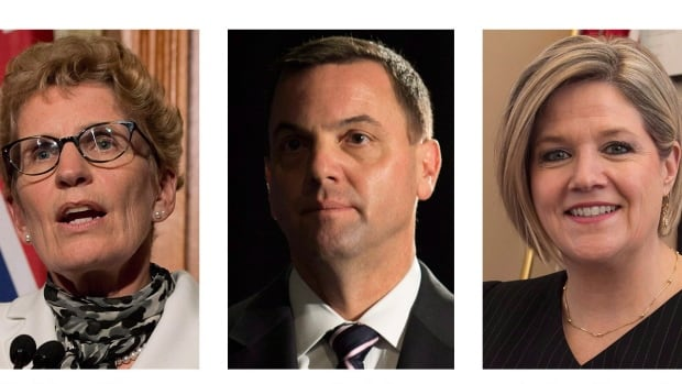With just a week to go before voters head to the polls, the three main party leaders spread out across southern Ontario today in an effort to drum up votes.