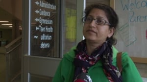Sumaira Manzoor, a Halifax parent, is concerned about the traffic her kids would encounter.
