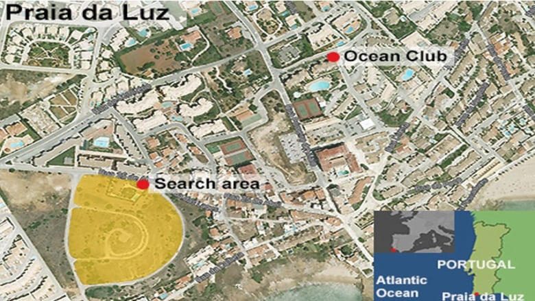 Madeleine McCann search: Police dogs sniff near Portugal ... on face map, housig m a map, restaurant map, floor map,
