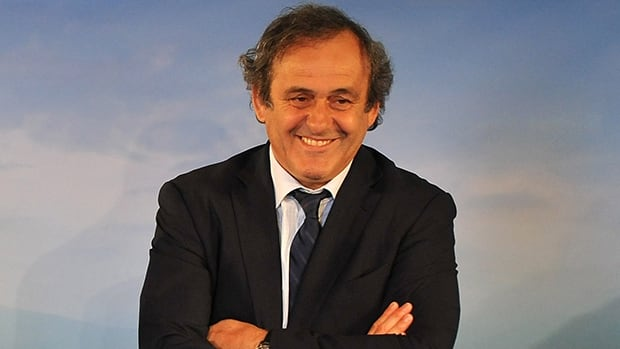 Michel Platini, shown in this file photo, is refuting corruption claims made by the Daily Telegraph in connection with the Qatar World Cup bid.