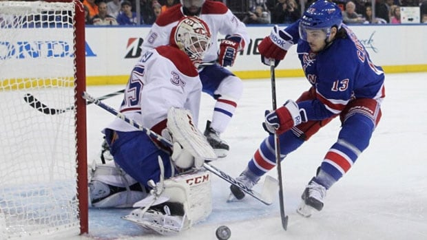 Rangers forward Daniel Carcillo, right, had his suspension reduced from 10 to six games Tuesday by NHL commissioner Gary Bettman.