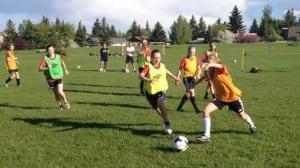 Young Calgary soccer athletes