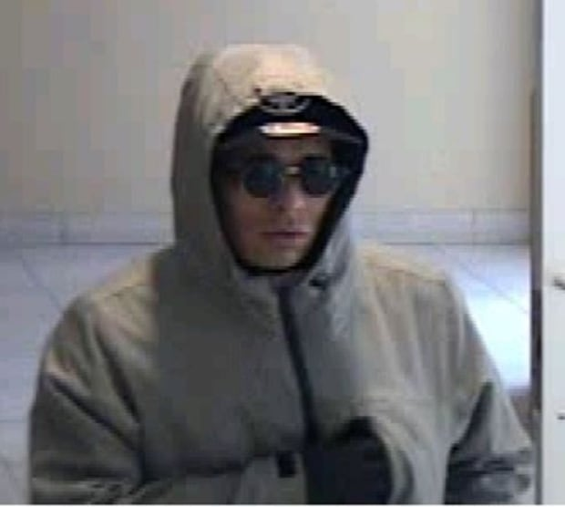 Police image of 'Mummy Bandit' bank robbery suspect