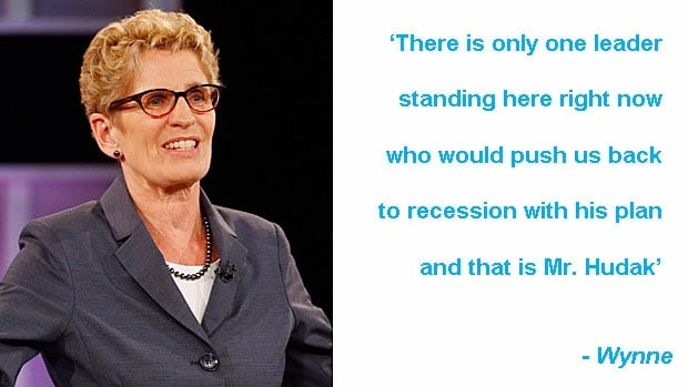 Leaders debate quotes: Kathleen Wynne