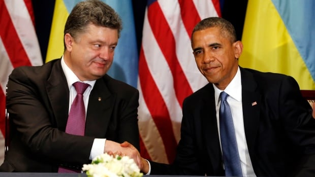 U.S. President Barack Obama said that Poroshenko was a 'wise selection' to lead the country and pledged $5 million in new aid, including military equipment like night vision goggles and body armour.