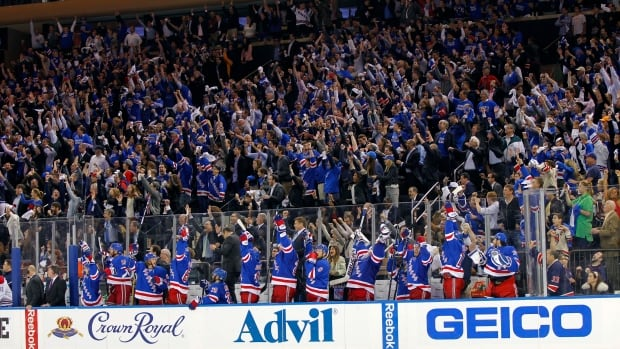 New York Rangers fans at Madison Square Garden cheer during Game 3 of the Eastern Conference Final. Ticket prices at MSG are going for an average of $1,800 on the secondary market for games 3 and 4.