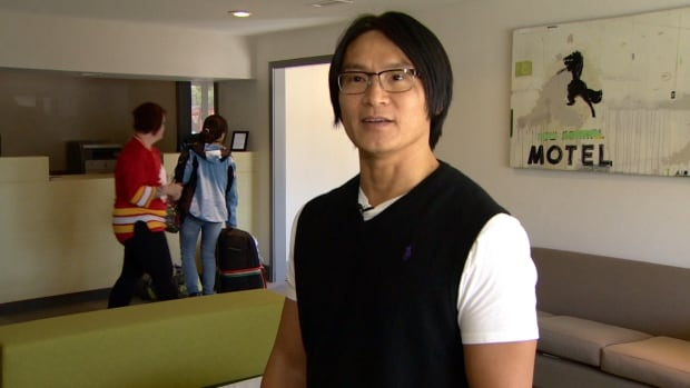 Jason Wong, with Hostelling International, says the Calgary city centre youth hostel is open for business after being badly damaged in June 2013.