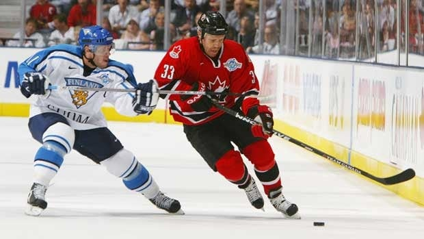 Kris Draper and Canada defeated Saku Koivu and Finland at Air Canada Centre in the final of the World Cup of Hockey in 2004.