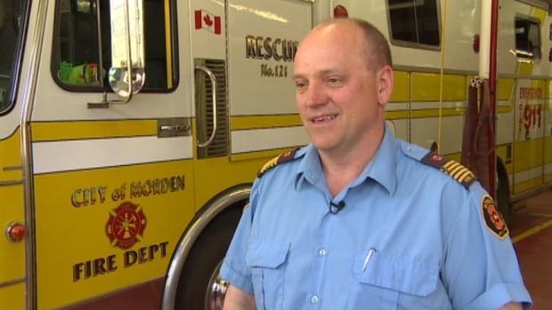 Morden fire chief Andy Thiessen