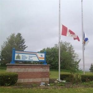 RCMP half mast moncton shooting