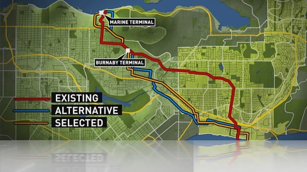 Proposed Kinder Morgan pipeline route would build a tunnel under Burnaby Mountain.