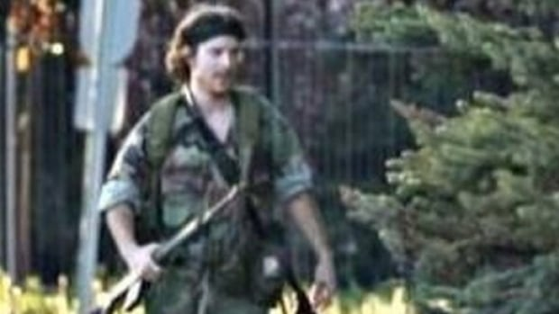 Justin Bourque, pictured in a photo tweeted by the RCMP on Wednesday, June 4 in Moncton, N.B., is the suspect in the shooting of five RCMP officers. Three of the officers were shot and killed, while two others were injured.