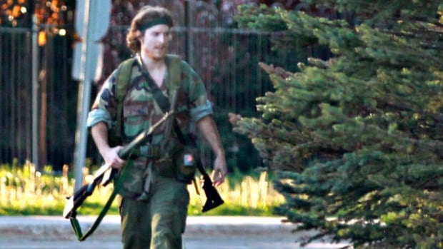 Justin Bourque is accused of killing three RCMP officers and wounding two others in Moncton, N.B., on June 4.