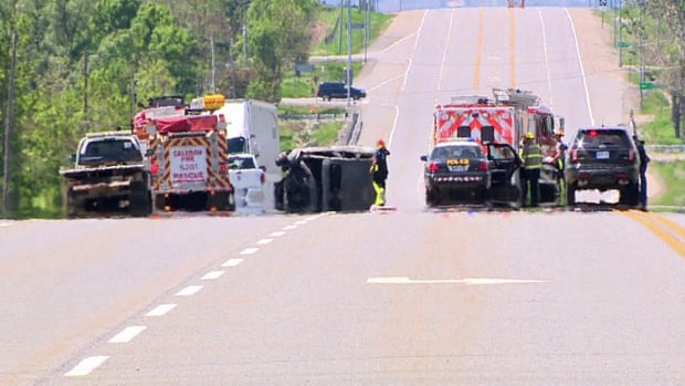 Two people died in a crash on Hurontario Street in Caledon on Thursday afternoon.