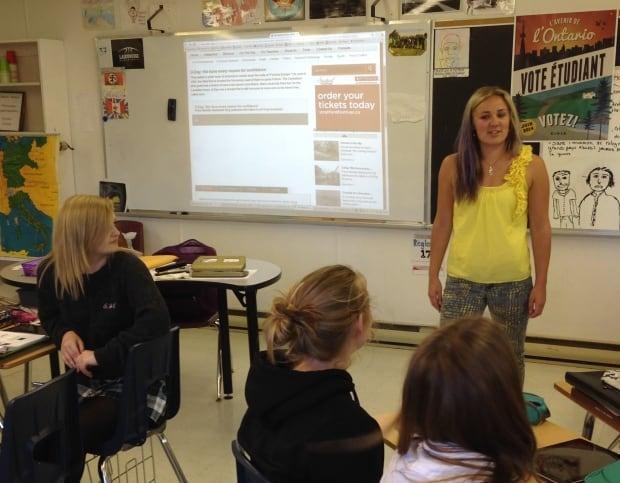 Danielle Parent teaching at E.J. Lajeunesse.