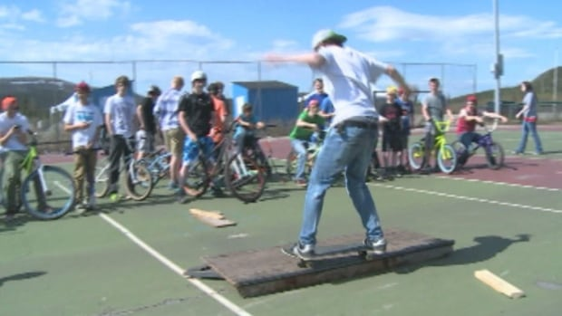 The current skate park in Labrador City consists of some planks of wood spread out around three tennis courts.