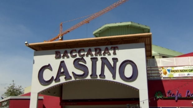 The Baccarat Casino remains open while construction on the new downtown arena continues next door.