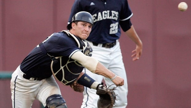"""The Blue Jays chose catcher Max Pentecost 11th overall in Thursday's MLB amateur draft. He has hit .342 through three seasons at Kennesaw University with 12 home runs. """"He's an athletic, two-way position player and we like the bat,"""" says Blue Jays scouting director Brian Parker."""