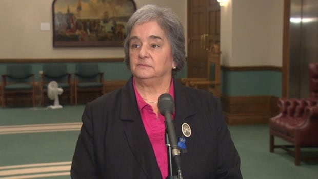 Lorraine Michael calls Bill 22 'paternalistic' and 'regressive' legislation that will hurt the labour movement.