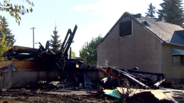 Investigators are looking into the cause of a fire that destroyed an Edmonton home under construction Friday morning.