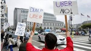 Uber protest San Francisco