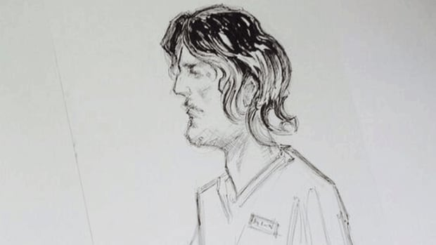 Justin Bourque did not show any emotion as he was charged Friday with three counts of murder and two counts of attempted murder in connection with the shootings of five RCMP officers in Moncton.