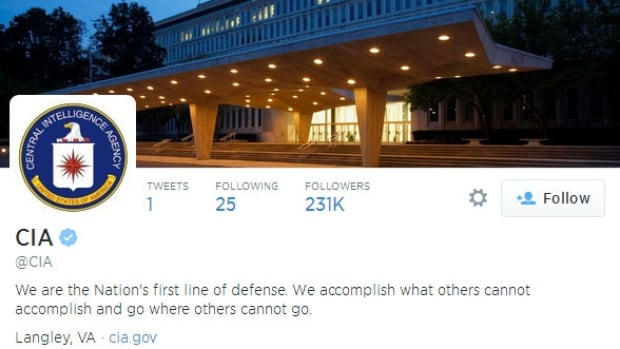 The famously secretive Central Intelligence Agency sent out its first tweet Friday and quickly amassed thousands of followers. The spy agency promised to regale its new followers with fun facts about the CIA and interesting material from its vast archive and museum.