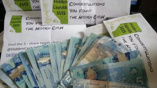 The hidden cash hunt that began a week ago in San Francisco has finally come to Calgary.