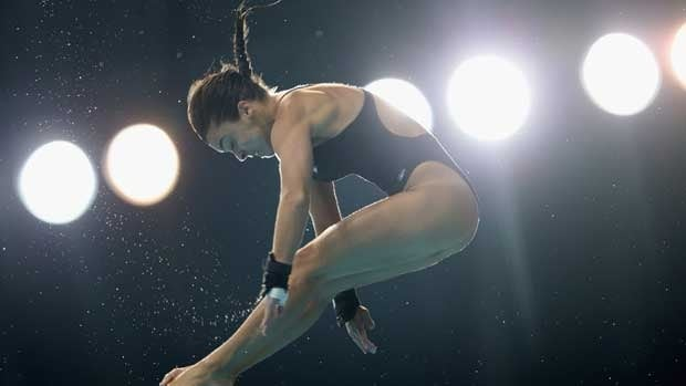 Meaghan Benfeito, seen at a competition in May, has also picked up medals in synchro recently with Roseline Filion.