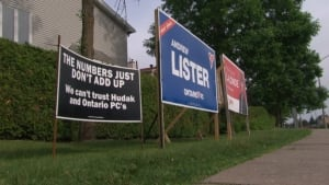 illegal signs Working Families Ontario PC Tim Hudak