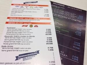 New menus