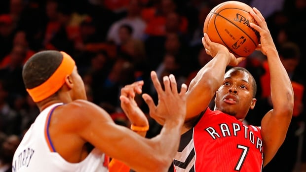 Kyle Lowry (7) and the Toronto Raptors will entertain the Kings in Vancouver on Oct. 5 and the Knicks in Montreal on Oct. 24.