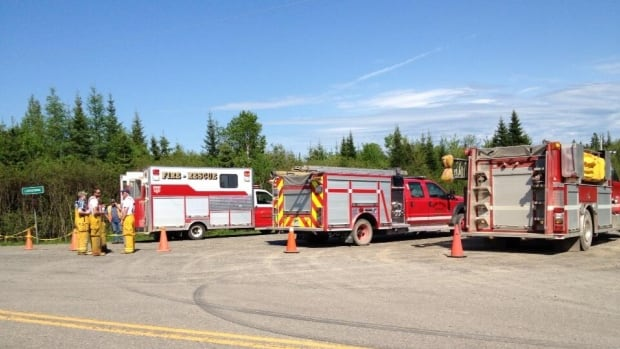 Nova Scotia RCMP are on the site of a train derailment in West River Station in Pictou County, southwest of Stellarton.