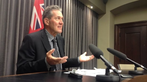 Progressive Conservative Leader Brian Pallister says the NDP government's contract for the Conference Board of Canada report states that the report's content had to be satisfactory to the government and could be withheld.