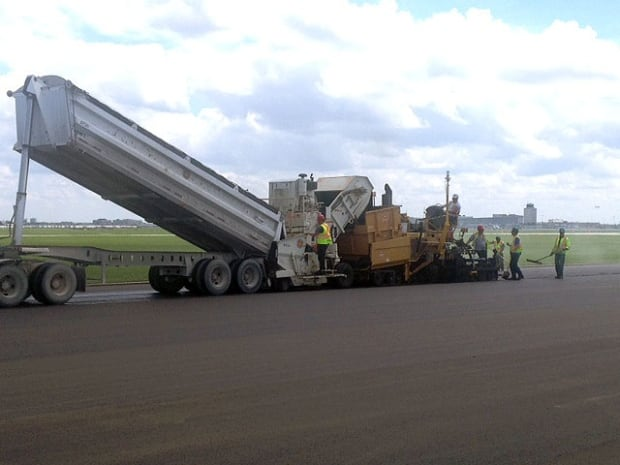 Construction at Winnipeg airport