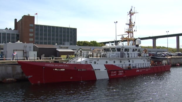 The 43-metre CCGS Corporal McLaren M.M.V. — named for Cpl. Mark McLaren — was formally presented in Dartmouth on Monday.
