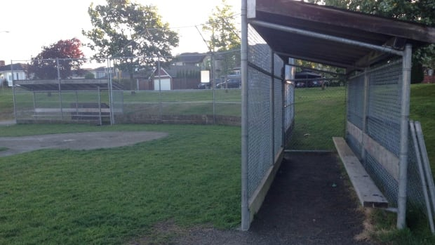 In a Challenger Baseball facility, this narrow dugout would be replaced by one that is wheelchair-accessible.