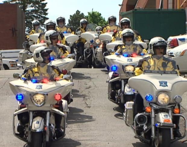 Halifax Regional Police traffic unit head to Moncton