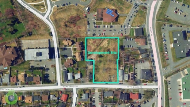 Twenty-seven three-storey townhouses are set to be built on a lot near Tiffany Lane, Mount Cashel Road and Torbay Road.