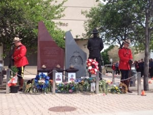 RCMP memorial in Winnipeg