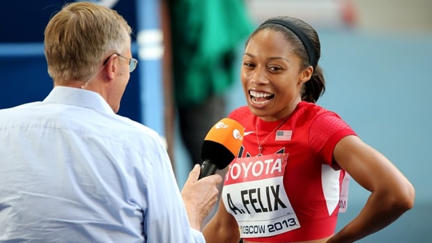 Three-time world champion Allyson Felix is one to watch in the women's 200 metres at the Bislett Games in Oslo, Norway.